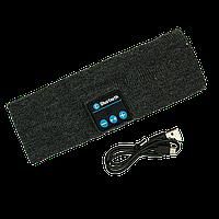 Повязка на голову  с Bluetooth гарнитурой Серая, КОД: 103061
