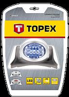 Фонарь налобный 7 LED + 3 красные LED TOPEX 94W819