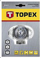Фонарь налобный 3 LED + 1 криптоновая лампа TOPEX 94W813
