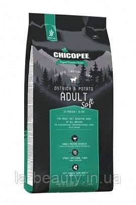 Корм для собак Holistic Nature Line (HNL) Chicopee Adult Soft Ostrich & Potato (Страус и картофель), 12 кг
