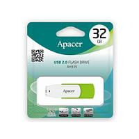 Модуль FD 32GB APACER AH335 (AP32GAH335G-1), USB 2.0, GREEN/WHITE