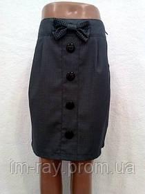 """Детская юбка """"Бант""""(Серый,Черный)"""