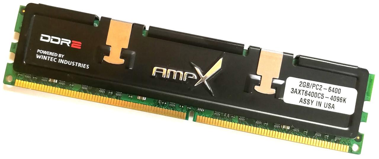 Игровая оперативная память Wintec DDR2 2Gb 800MHz PC2 6400U CL5 (3AXT6400C5-4096K) Б/У