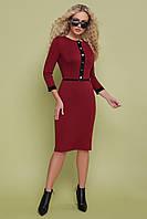 Платье GLEM Ванесса M Бордовый GLM-pl00110, КОД: 305673