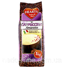 Капучино Амаретто, Hearts Cappuccino Amaretto, растворимый напиток 3в1, 1 кг