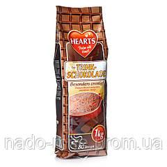 Горячий питьевой шоколад, Hearts Trink Schokolade, растворимый напиток, 1 кг