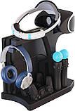 Многофункциональная Подставка KJH для Playstation PS 4, Pro, Slim, PSVR, PSVR2 + вентиляторы, зарядка, фото 2