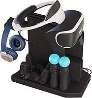 Многофункциональная Подставка KJH для PS 4, Pro, Slim, PSVR, PSVR2 + вентиляторы, зарядка