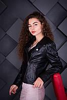 Куртка кожаная Косуха Oscar Fur 619 Черный