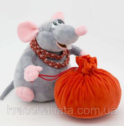 Мышка Крекер с мешком для подарка,  упаковка для конфет 1200  грамм