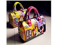 Красивая молодежная сумка с двойными ручками Braccialini
