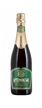 Вино игристое выдержанное Артемовское мускатное полусухое 0.75л