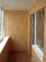 Обшивка балконов вагонкой пластиковой, вагонкой МДФ, вагонкой деревянной.