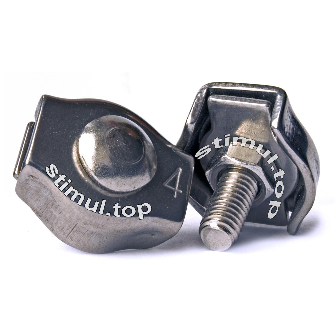 Зажим одинарный для троса 4 мм – Затискач одинарний линвовий Simplex