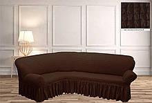 Покрывало Чехол на угловой диван Шоколад