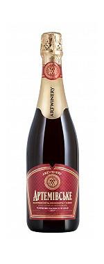 Вино игристое выдержанное Артемовское красное полусладкое 0.75л