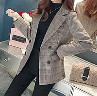 Женский пиджак в клеточку. Модель 815, фото 2