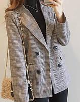 Женский пиджак в клеточку. Модель 815, фото 5