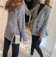 Женский пиджак в клеточку. Модель 815, фото 7