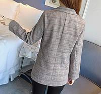 Женский пиджак в клеточку. Модель 815, фото 8