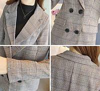 Женский пиджак в клеточку. Модель 815, фото 9