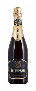 Вино белое полусладкое игристое Артемовское выдержанное 0.75л чёрная этикетка, фото 2