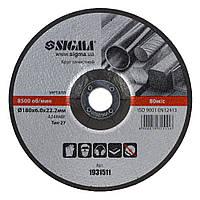 Круг зачистной по металлу Ø180х6.0х22.2мм, 8500 об/мин Sigma (1931511)