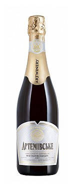 Вино игристое выдержанное Артемовское белое полусладкое 0.75л, фото 2