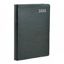 Ежедневник A5 датированный 2020 Leo planner Aldento интегральный,PU,зелёный 251942