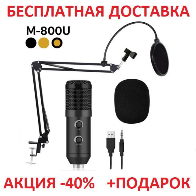 Профессиональный конденсаторный студийный микрофон M-800 Original size