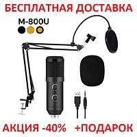 Профессиональный конденсаторный студийный микрофон M-800 Original size, фото 1