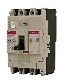 Автоматический выключатель ETIBREAK EB2S 160/3SF 80A 3P 25kA (с фикс. настройками защиты) ETI 4671834