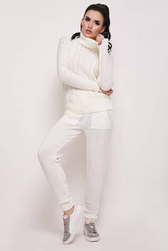 Вязаный костюм под горло белый