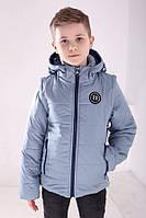 """Демисезонная куртка-жилет  для мальчика """"Миша"""" (128-152р)"""