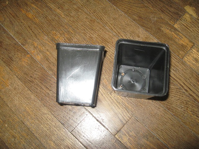 Горшок для рассады квадратный 210мл-7 диаметр мягкий