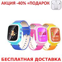 Детские наручные часы Smart  Baby Watch Q80 смарт мат часы телефон GPS трекер+Наушники