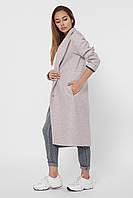 Пальто кашемировое женское стильное с красной подкладкой PL-8844-5