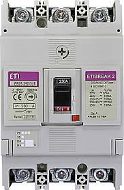Автоматический выключатель ETIBREAK EB2S 250/3LF 250A 3P 16kA (с фикс. настройками защиты) ETI 4671813