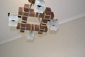 Люстра підвіс з натурального дерева на 4 лампи. LL-S4