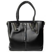 Женская сумка из натуральной кожи классика черного цвета
