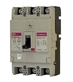 Автоматический выключатель ETIBREAK EB2S 250/3SF 200A 3P 25kA (с фикс. настройками защиты) ETI 4671838