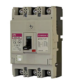Автоматический выключатель ETIBREAK EB2S 250/3SF 250A 3P 25kA (с фикс. настройками защиты) ETI 4671839