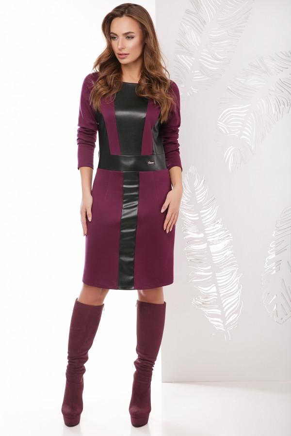 Платье баклажановое