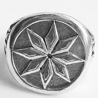 """Кольцо """"Алатырь"""". Славянский амулет. Размер 19., фото 1"""