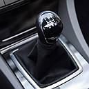 Ручка кпп с чехлом кулисы 5 ступеней Ford Focus 2 (Форд Фокус 2) 2004-2011 г.в. чёрная, фото 5
