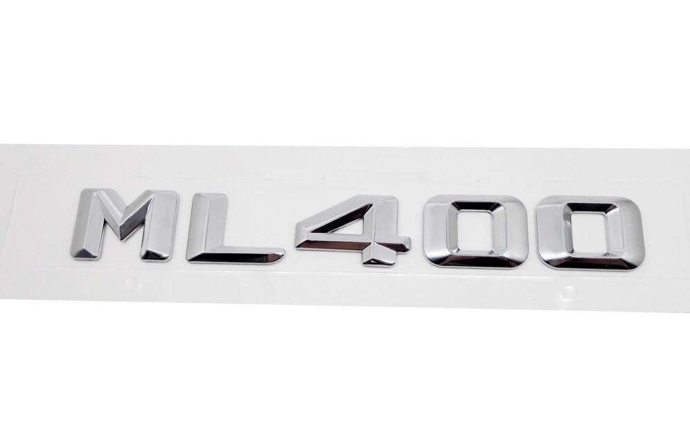 Хромированная Эмблема Шильдик надпись ML400 Мерседес Mercedes
