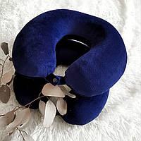 Ортопедическая дорожная подушка с эффектом памяти, синяя