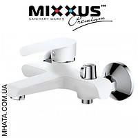 Смеситель для ванны короткий нос Mixxus Colorado White Euro (Chr-009)