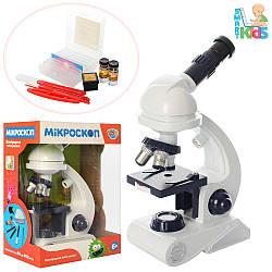 Микроскоп C2129 (12шт) 26,5см, свет, инструменты, на бат-ке, в кор-ке, 27-20-13см