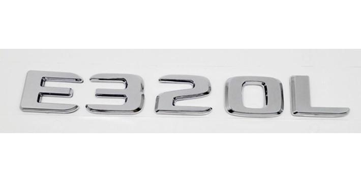 Хромированная Эмблема Шильдик надпись E320L Мерседес Mercedes